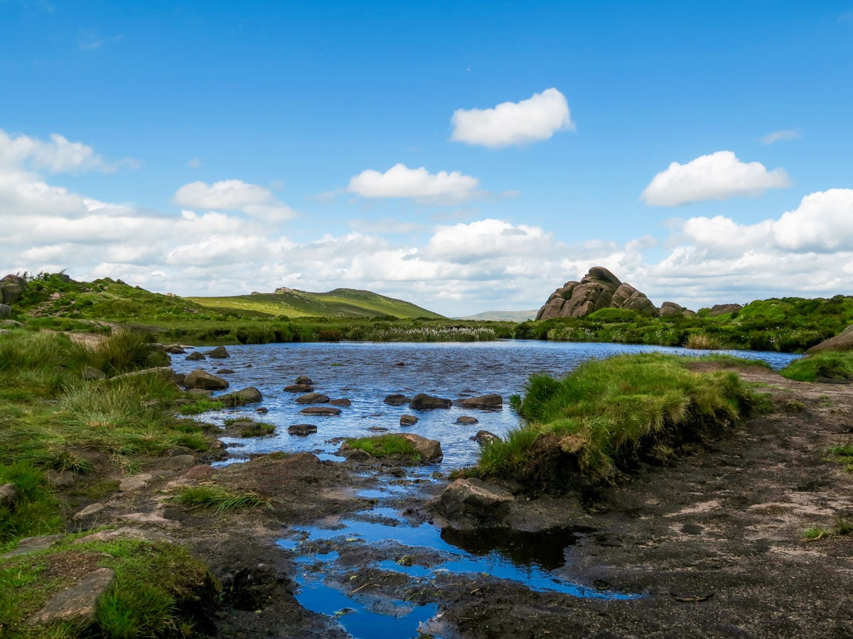 Doxey Pool on The Roaches and Lud's Church Hike in Peak District, England