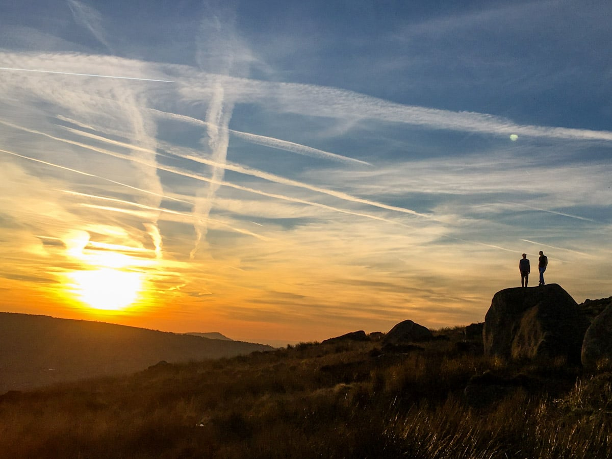 Sunset on The Roaches and Lud's Church Hike in Peak District, England