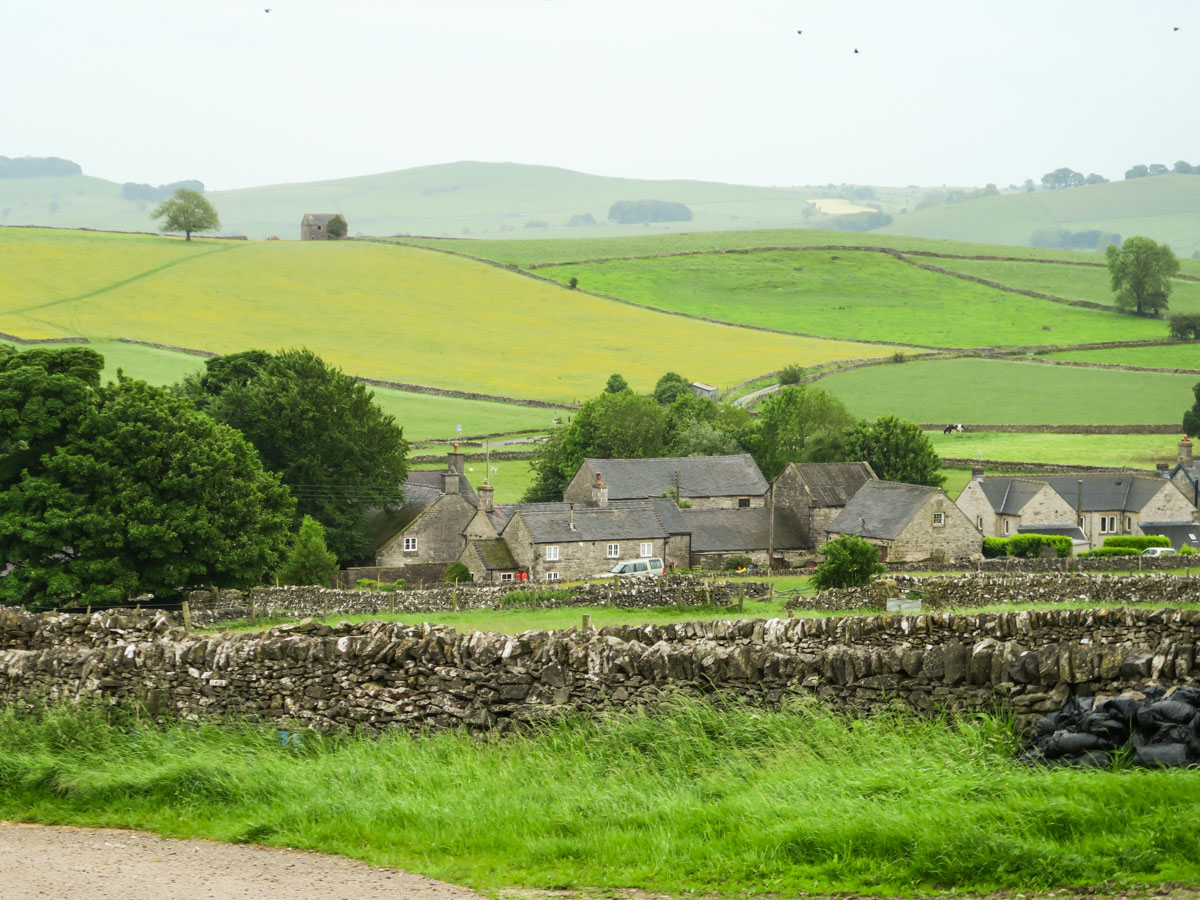 The village of Wetton on Thor's Cave and The Manifold Valley Hike in Peak District, England