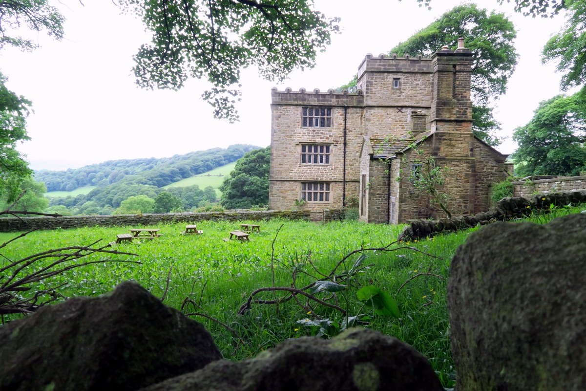 You can see North Lees Hall while on the Stanage Edge from Hathersage Hike in Peak District, England