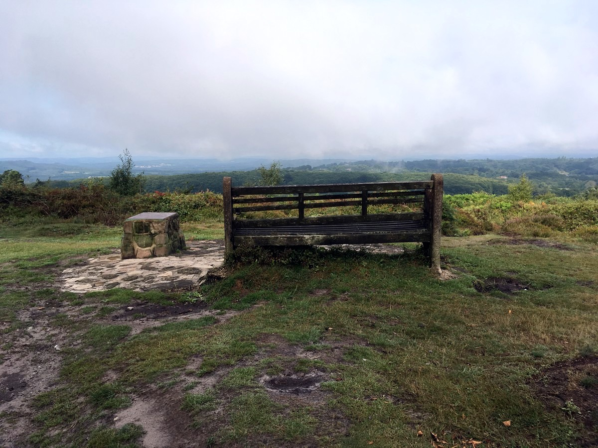 Low cloud and views to the east from the Temple of the Winds Hike in South Downs, England