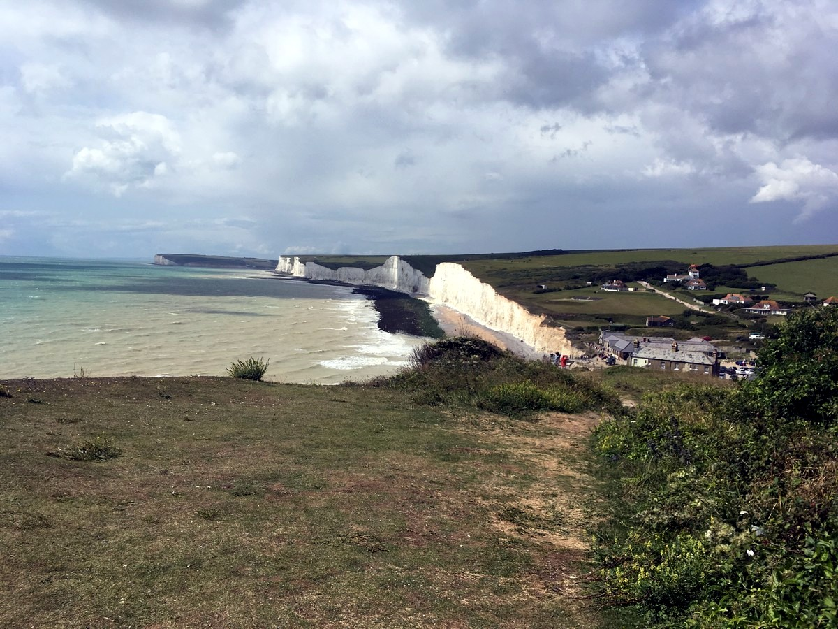 Birling Gap - the Seven Sisters from the East Dean, Beachy Head and Birling Gap Hike in South Downs, England