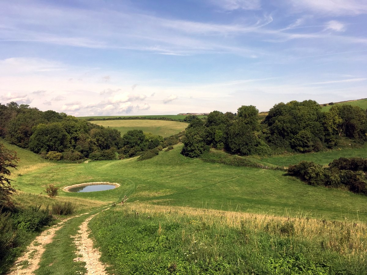 Views on the Amberley and the River Arun Hike in South Downs, England