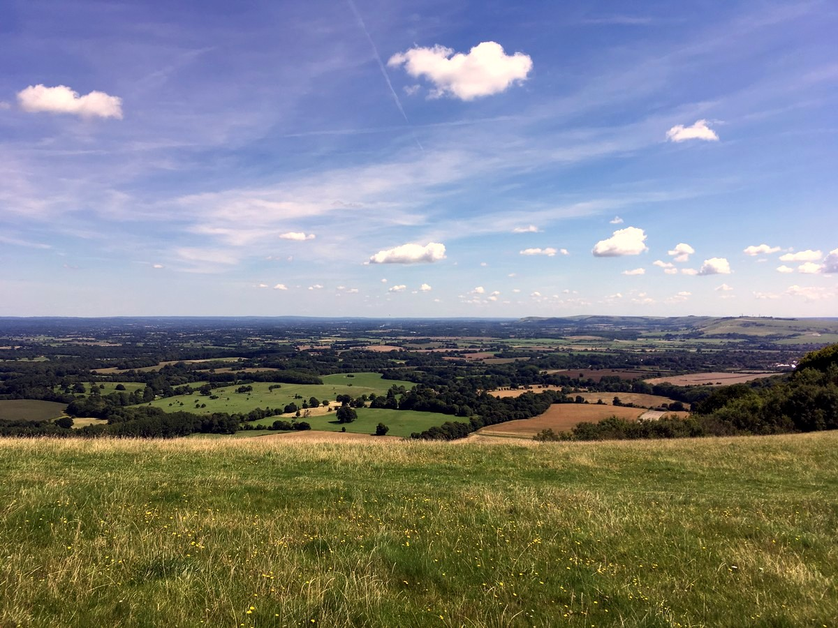 Views from Chanctonbury on the Amberley to Shoreham-by-Sea Hike in South Downs, England