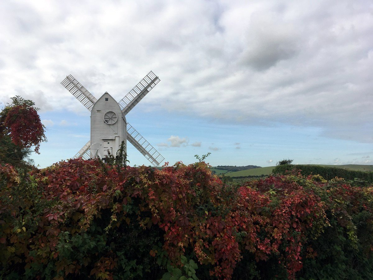 The Jil Windmill near Clayton can be seen on Hassocks to Lewes hike in South Downs