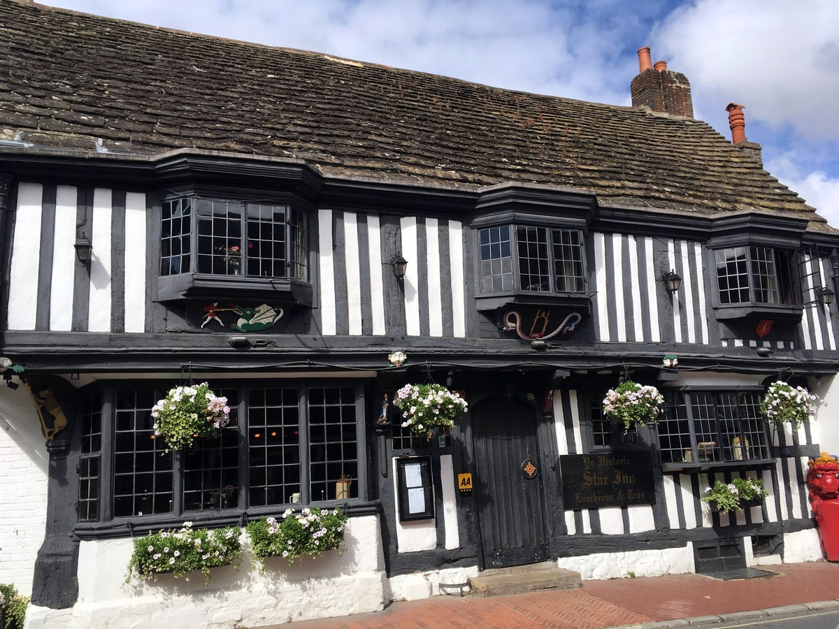 The Star Inn, Alfriston on the Long Man of Wilmington to Alfriston Hike in South Downs, England