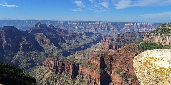 Trail of the Bright Angel Point hike in Grand Canyon National Park, Arizona