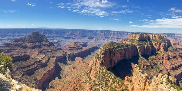 Panorama of the Cape Royal hike in Grand Canyon National Park, Arizona
