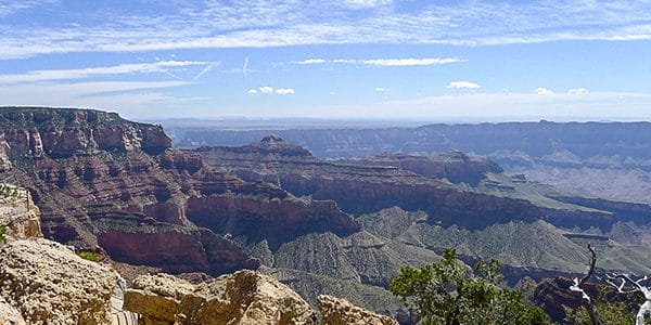 Scenery from the Cape Royal hike in Grand Canyon National Park, Arizona