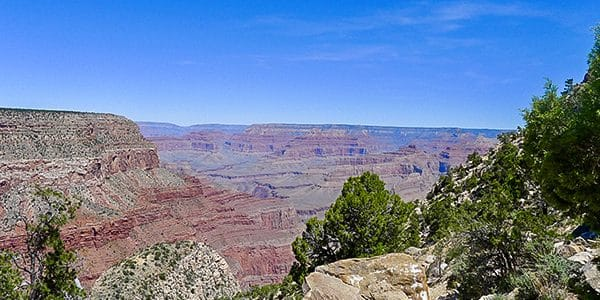 Trail of the Dripping Springs hike in Grand Canyon National Park, Arizona