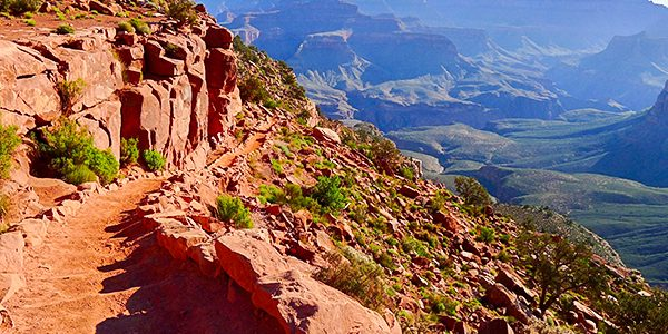 Views on the South Kaibab Trail hike in Grand Canyon National Park, Arizona