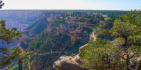 Scenery from the South Rim Trail hike in Grand Canyon National Park, Arizona
