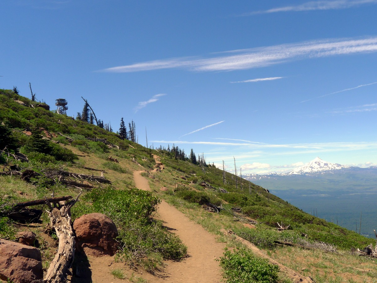 Approaching the summit on the Black Butte Hike near Bend, Oregon