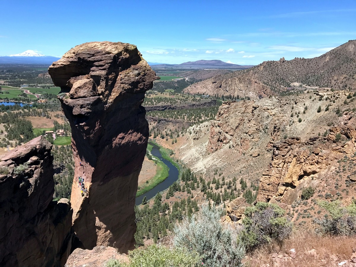 Monkeys Face on the Smith Rock's Misery Ridge Loop Hike near Bend, Oregon