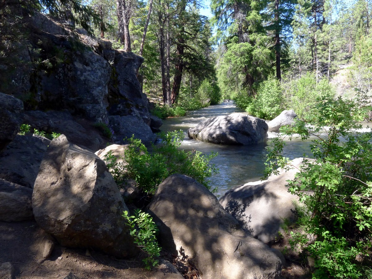 Whychus River Trail is a great hike near Bend, Oregon