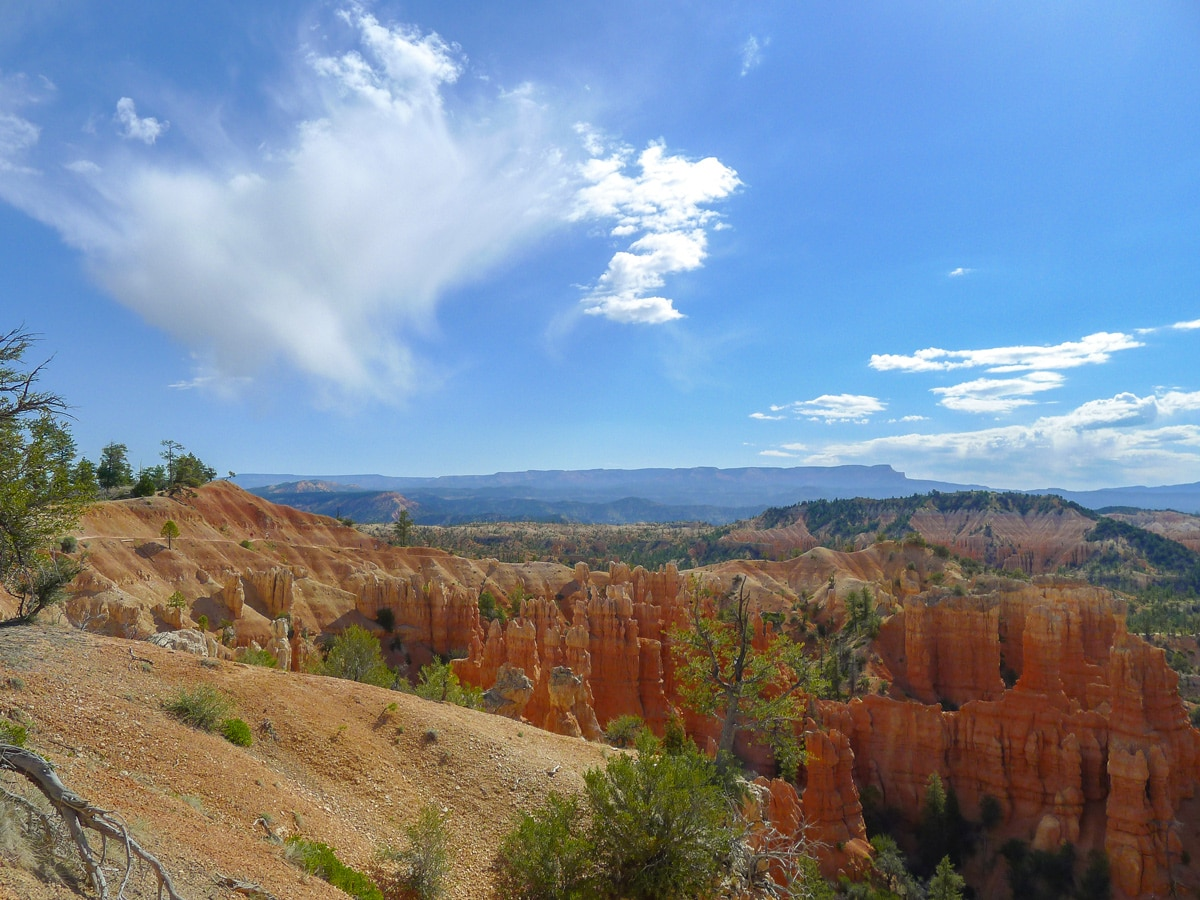 Fairyland Loop Trail hike in Bryce Canyon National Park is surrounded by hoodoo formations