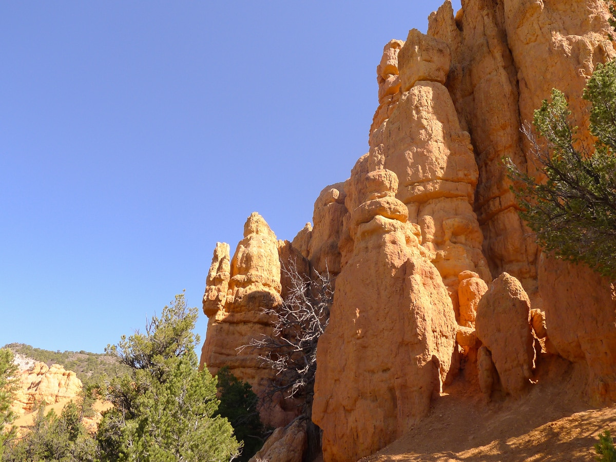 Rock spires on Bristlecone Loop trail hike in Bryce Canyon National Park