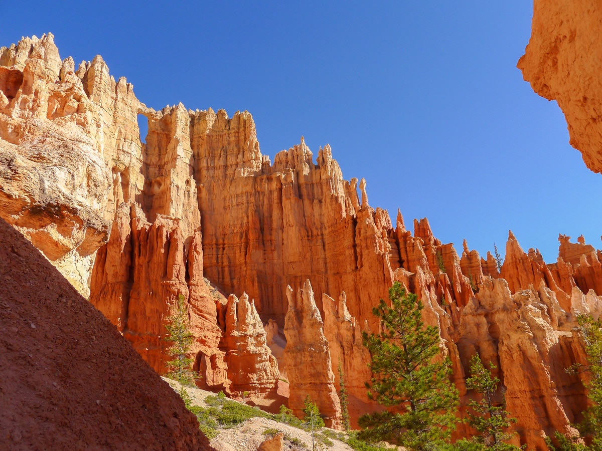 Peek-A-Boo Loop trail hike in Bryce Canyon National Park is surrounded by beautiful hoodoos