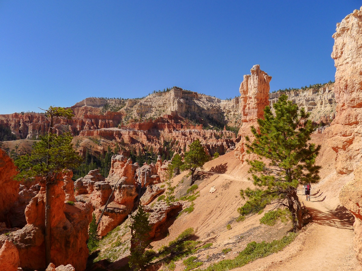Trail views on Peek-A-Boo Loop trail hike in Bryce Canyon National Park