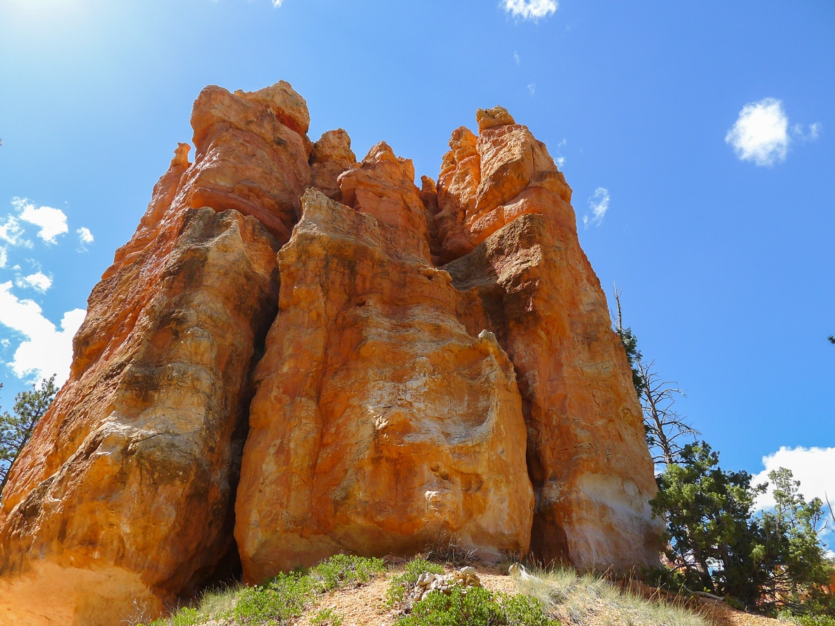Massive hoodoo on Queens Garden to Navajo Loop trail hike in Bryce Canyon National Park