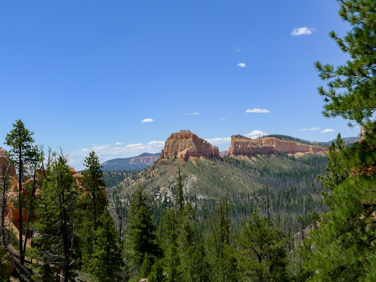 Rock formation visible from the ascent on Swamp Canyon trail hike in Bryce Canyon National Park