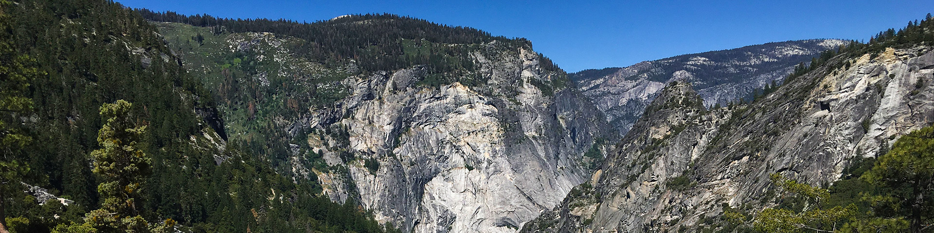 Panoramic views of the Mist Trail hike in Yosemite National Park