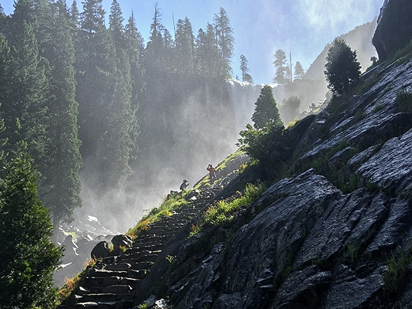Trail of the Mist Trail hike in Yosemite National Park