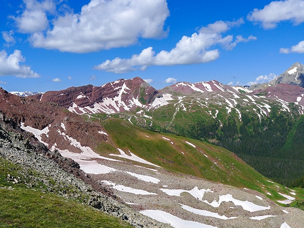 Trail of the Buckskin Pass hike from Aspen, Colorado