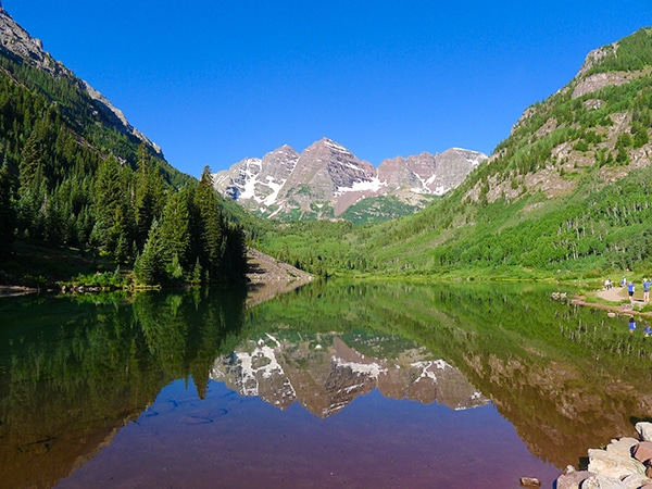 Views from the Maroon Lake hike in Aspen, Colorado