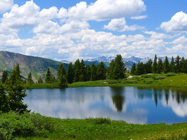 Scenery of the Midway Pass hike in Aspen, Colorado