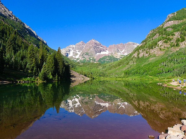 Trail of the West Maroon Pass hike near Aspen, Colorado