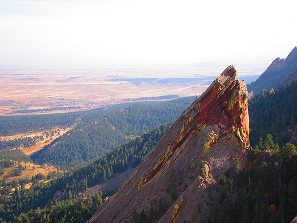 Views from the 1st Flatiron hike in Boulder, Colorado