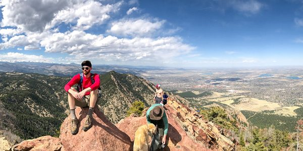 Panorama from the Bear Peak hike in Boulder, Colorado