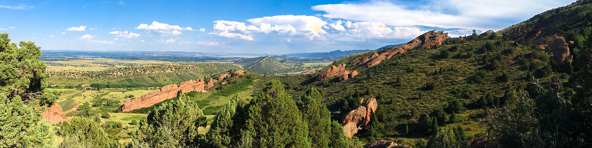 Panorama on the Matthew/Winters Park hike in Denver, Colorado