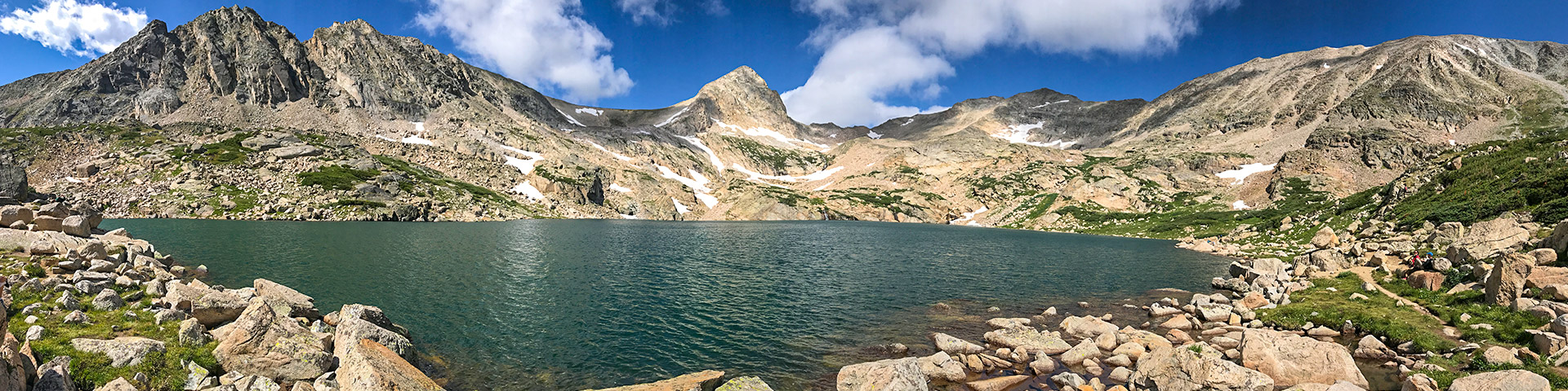 Panoramic views from the Blue Lake Trail hike in Indian Peaks, Colorado