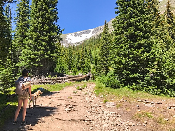 Scenic views from the Diamond Lake hike in Indian Peaks, Colorado