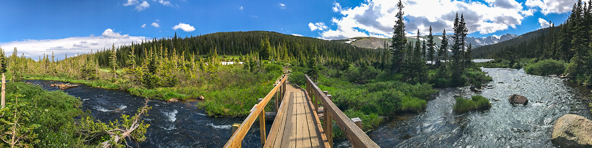 Panoramic views from the Long Lake hike in Indian Peaks, Colorado