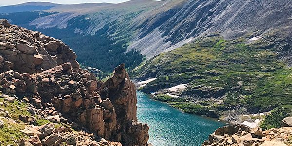 Scenic views from the Pawnee Pass hike in Indian Peaks, Colorado