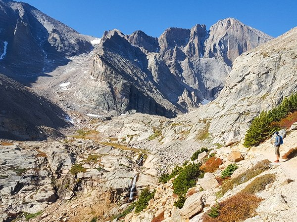 Trail of the Chasm Lake with Columbine Falls hike in Rocky Mountain National Park, Colorado
