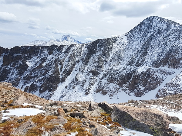 Scenery from the Flattop Summit and Hallett Peak hike in Rocky Mountain National Park, Colorado