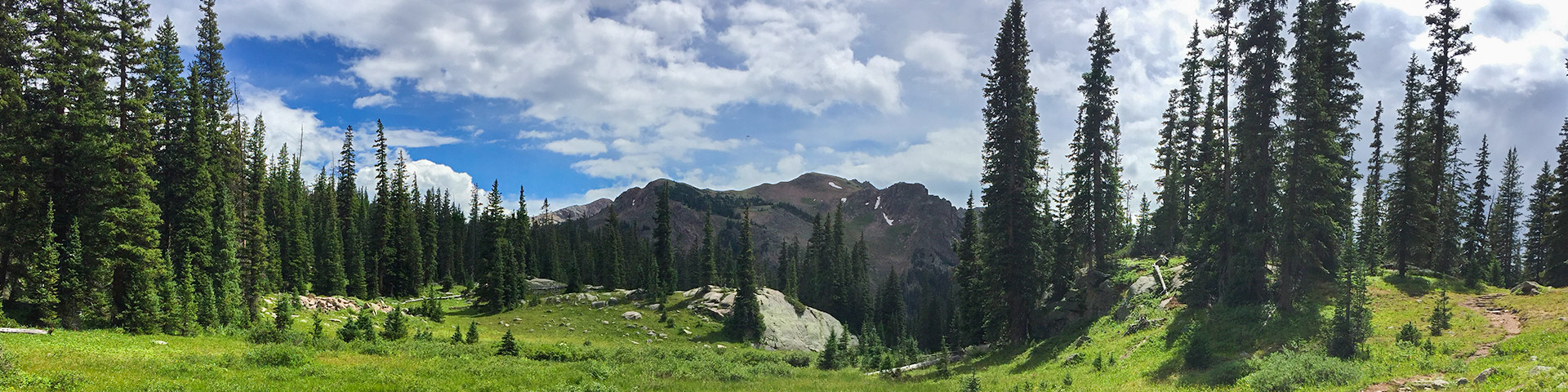Panorama from the Gore Lake Trail hike near Vail, Colorado