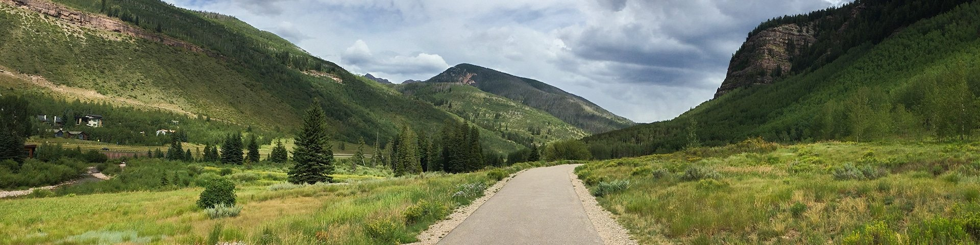 Panoramic views from the Gore Valley Trail hike near Vail, Colorado