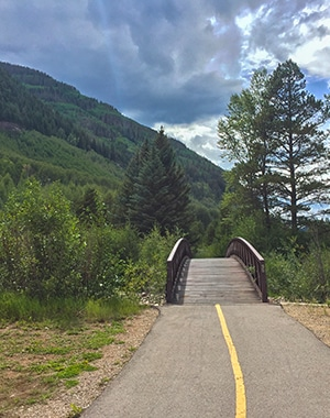 Gore Valley Trail hike near Vail, Colorado