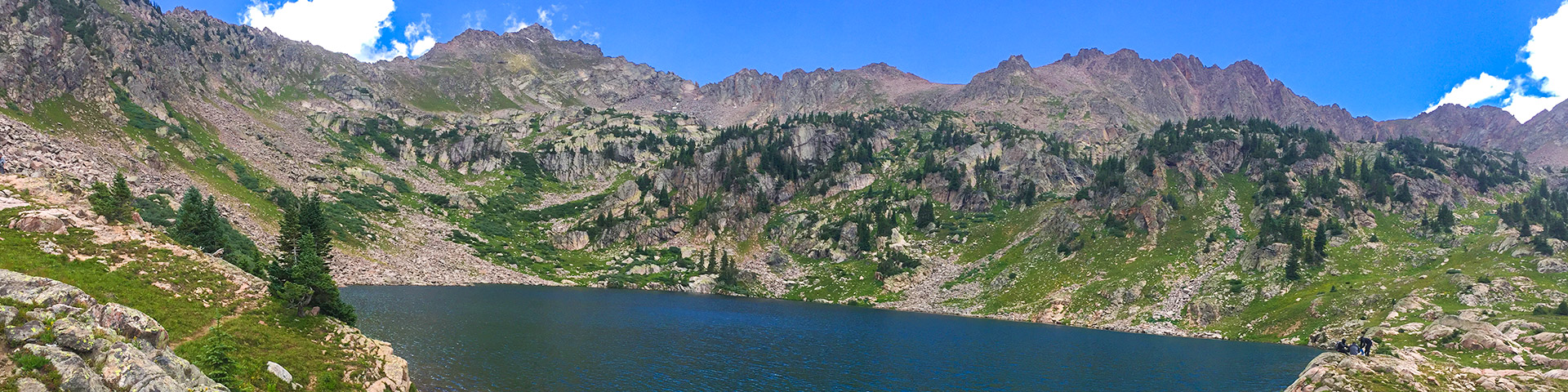 Panoramic views from the Pitkin Lake Trail hike near Vail, Colorado