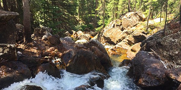 Views from the Upper Piney River Falls hike near Vail, Colorado