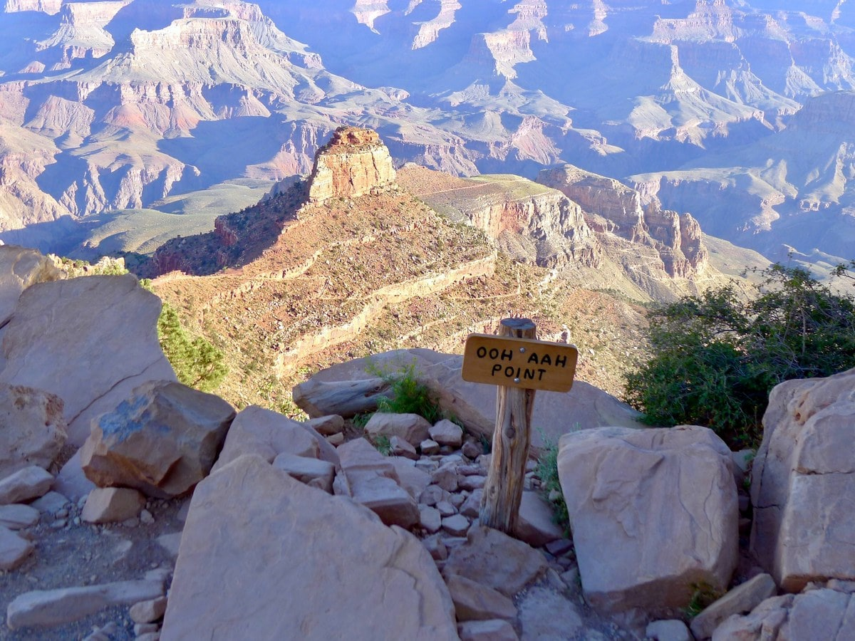 Ooh Aah Point on the South Kaibab Trail Hike in Grand Canyon National Park, Arizona