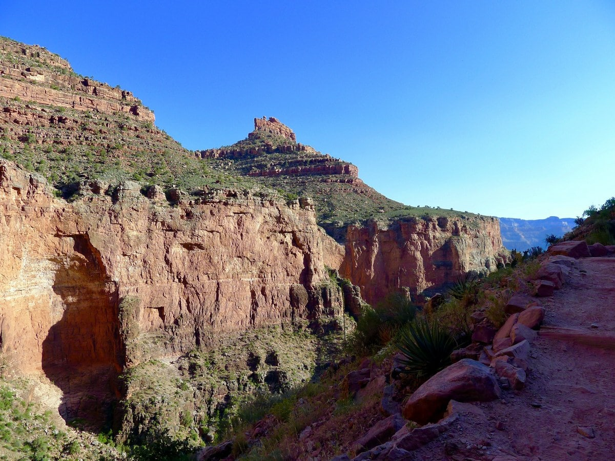 Indian gardens from the Bright Angel Trail Hike in Grand Canyon National Park, Arizona