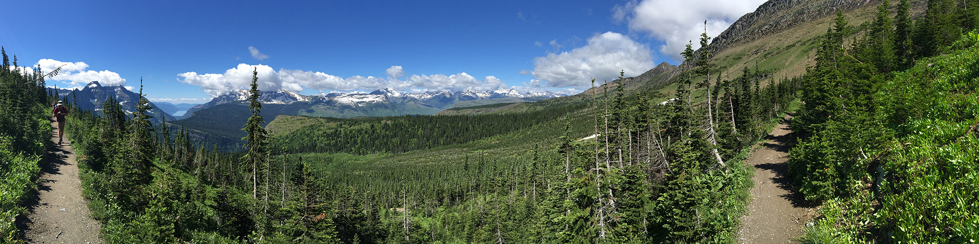 Panoramic views from the Highline hike in Glacier National Park, Montana