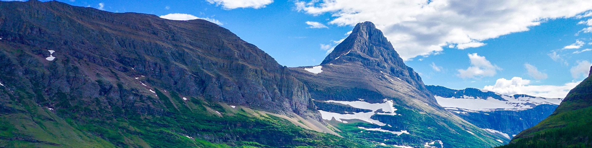 Panorama from the Iceberg Lake hike in Glacier National Park, Montana