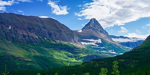 Trail of the Iceberg Lake hike in Glacier National Park, Montana